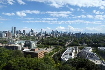 Blick vom Turm auf Toronto